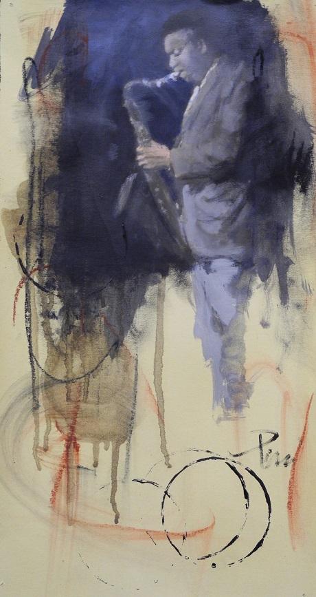 2011 - Equilibrio magico - olio su carta cm. 4x20