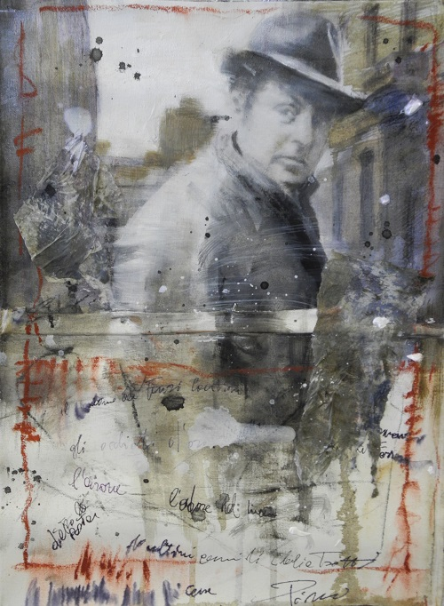 2042 - Omaggio a Bassani -Dentro le mura - olio su tela cm. 50x40
